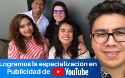 Logramos la Especialización en Publicidad en YouTube